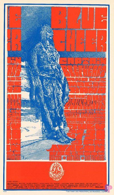 Avalon Ballroom 7/27-30/67: Blue Cheer Art Poster by Tom Glass aka Ned Lamont