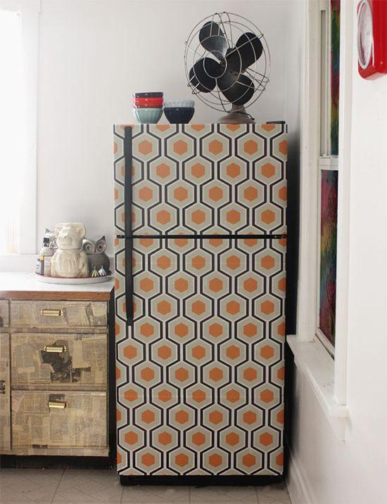 Vida nova à uma geladeira velha