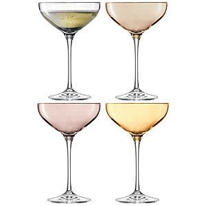 LSA International Set of 4 Polka Metallic - Champagne Saucers #kaleidoscope #home