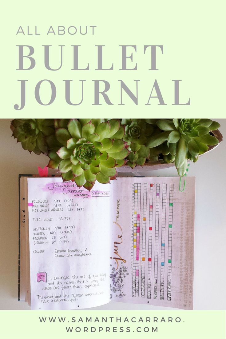 Bullet Journal: How to begin, What to include and How to decorate it on https://samanthacarraro.wordpress.com/2016/05/16/bulletjournal-guide-inspo #Planning #Bujo #Quotes #Decoration #Planner #Guide