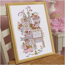 Bucilla ® Baby - Counted Cross Stitch - Crib Ensembles - Fairytale Castle - Birth Record Kit LOVE THIS!!!!