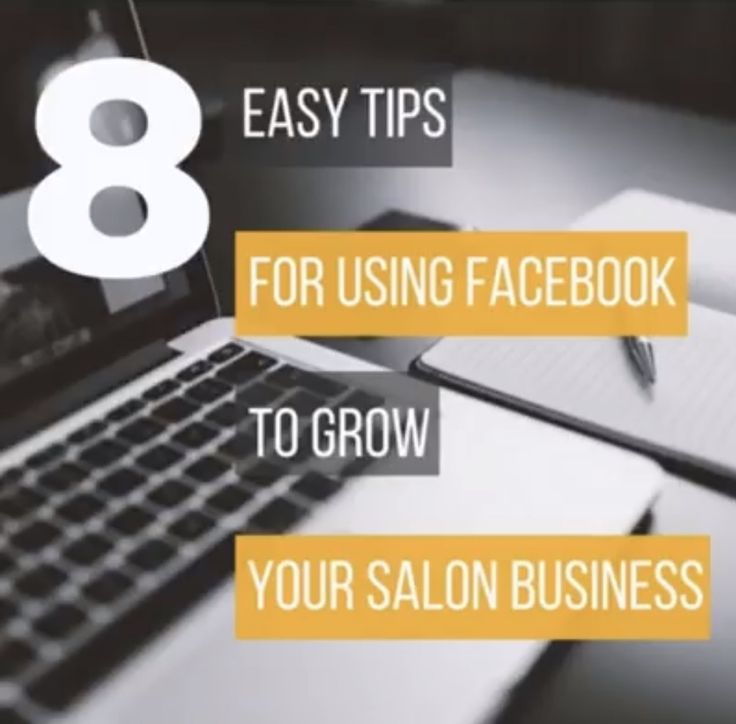 Facebook marketing for hair and beauty salons.