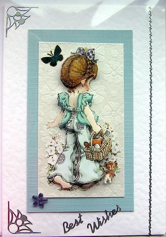 Hippy Chill HandCrafted 3D Decoupage Card  Best by SunnyCrystals, $3.55