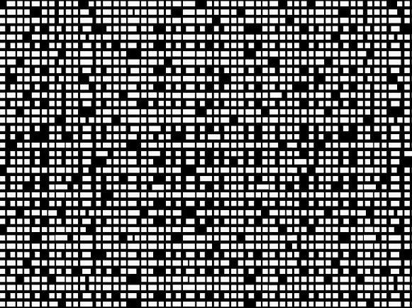 Tole perforee decorative - Effet trame linéaire de carré et rectangle