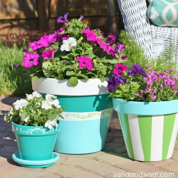Beautify your deck or patio with this easy step by step tutorial on How to Paint Terracotta Pots.