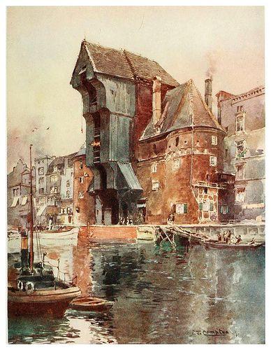 020-Krahntor en Danzig-Germany-1912- Edward y Theodore Compton ilustradores