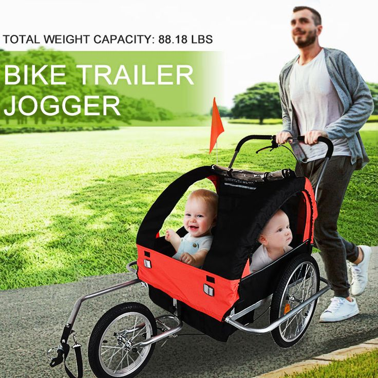 ■ Front and rear screened canopy for ventilation. ■ 1 Bike Trailer. ■ With extra seat safety protecting. ■ Extra-wide steel frame design provide more space for each children. ■ 2 seat, with 5 points safety belt protecting. | eBay!