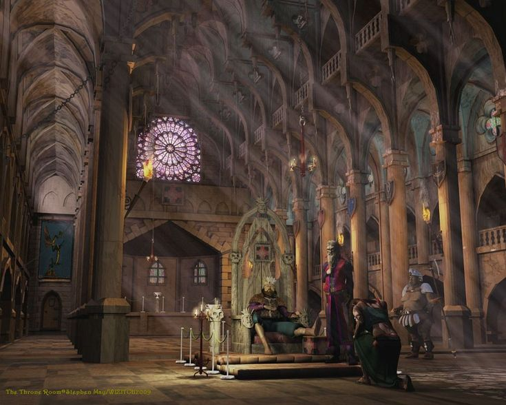 throne room castle fantasy palace elaborate places medieval rooms couteau court scene rose floor through thrones dusty castles windows kings