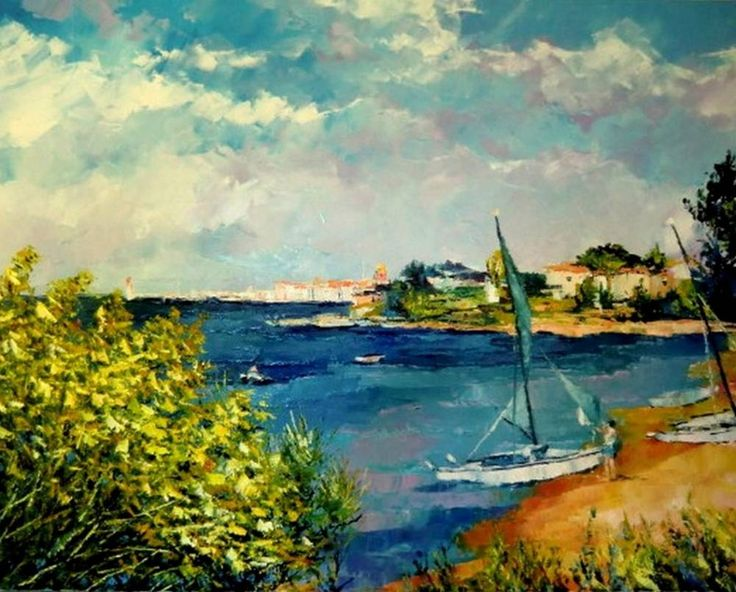 Картины (живопись) : Морской пейзаж. Сен Тропе.. Автор Лилия Скобелева