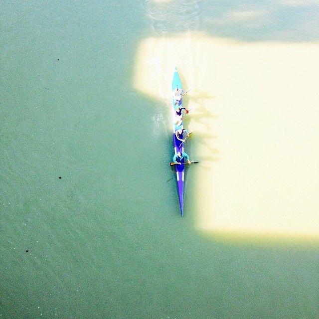 .@annamariawolniak | Rowers on the Tevere