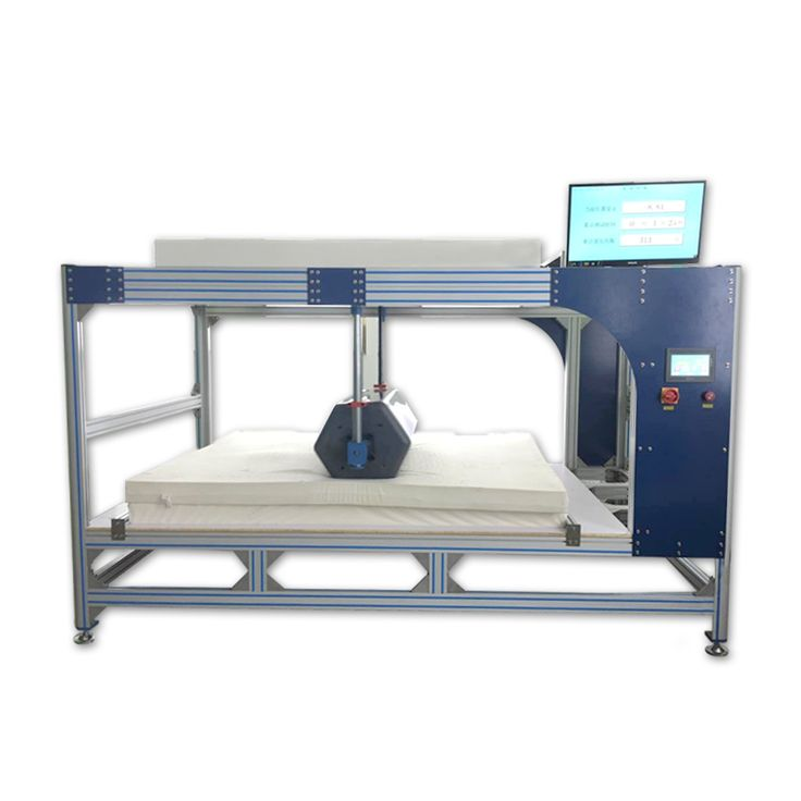 The Mattress Roller Tester is an instrument for testing the bearing capacity and durability of various types of mattresses for long-term repetitive loads.
