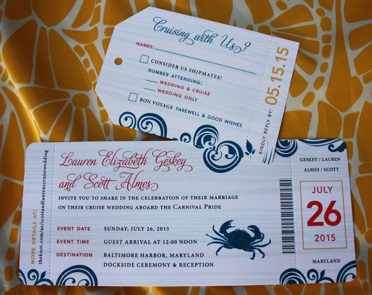 23 best invitaciones images on Pinterest Invitations, Bridal - airline ticket invitation