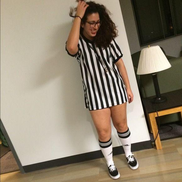 Tops - Referee shirt & whistle goodHalloween costume!!