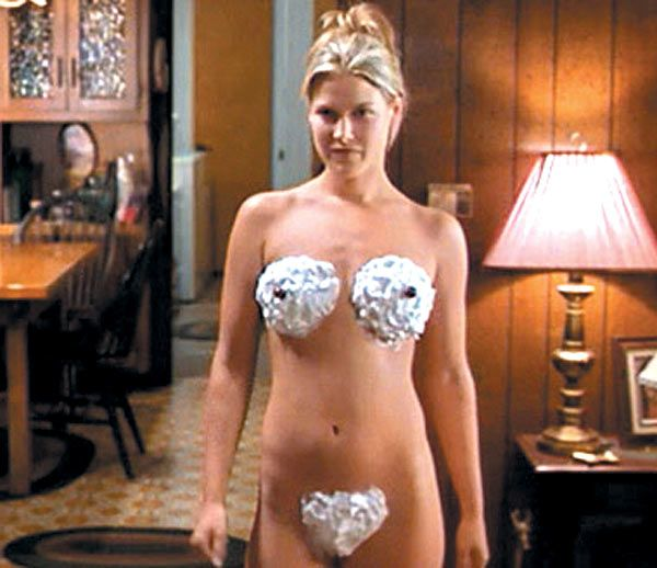 "Ali Larter in a funny scene from the comedy ""Varsity Blues ..."