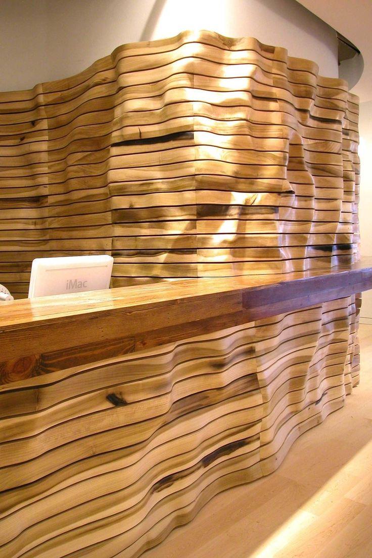 Custom Made Wave Wall by Naturalism Furniture pinned via Custom Made for #WallPinWednesday