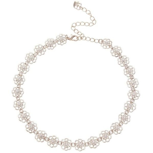 Ariana Grande For Lipsy Pretty Floral Choker ($26) ❤ liked on Polyvore featuring jewelry, necklaces, lipsy, floral jewelry, choker necklace, choker jewelry e jewel necklace
