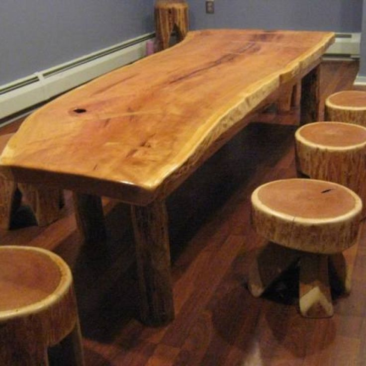 Log Cabin Builder - Rustic Log Table
