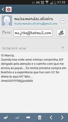BreShop da Mah: Feedback da amada Maiza Mendes de Marabá/ Pará