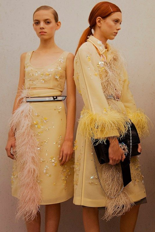 Backstage at Prada SS17
