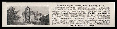 Platte Clove 1915 Grand Canyon House Catskill Mts NY Farm Food Hotel Photo AD