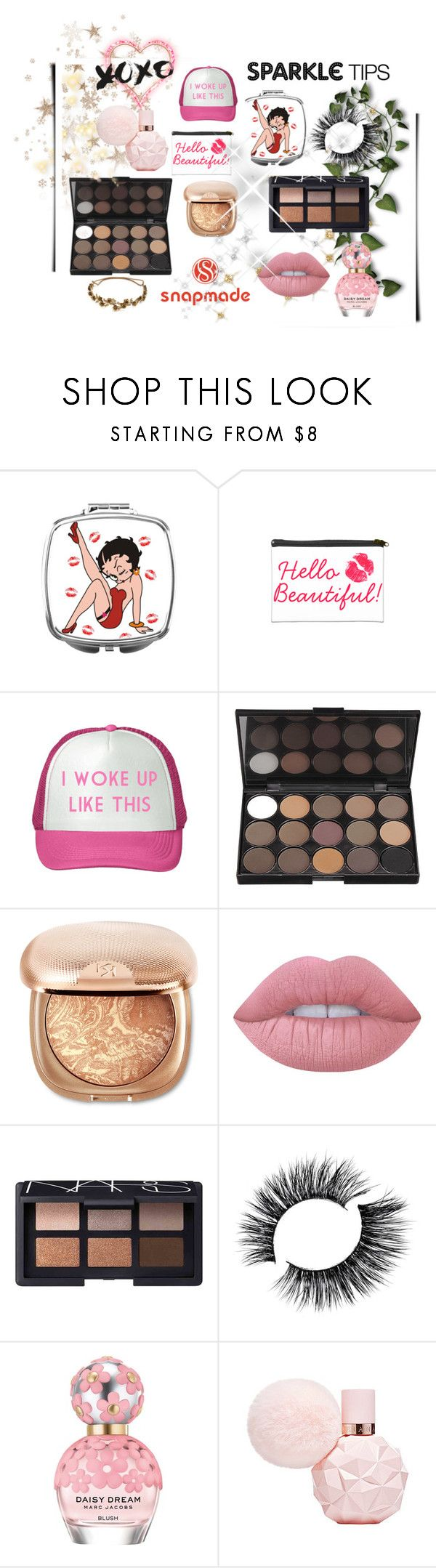 """""""♡WIN SNAPMADE $25 COUPON!♡"""" by stylishmaze ❤ liked on Polyvore featuring beauty, Lime Crime, NARS Cosmetics, Marc Jacobs and Jennifer Behr"""