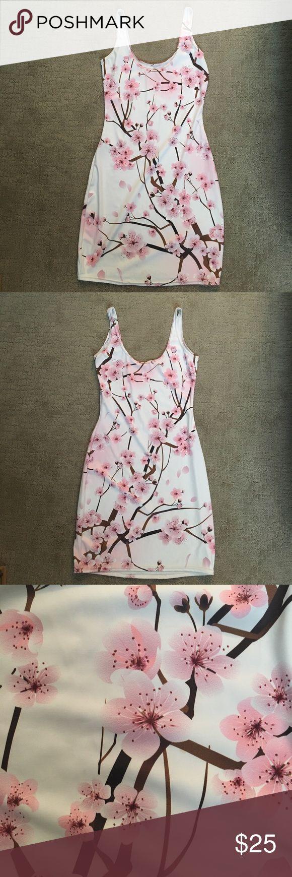 Blackmilk Clothing cherry blossom white dress Blackmilk Clothing cherry blossom white dress. Size S. Printed nylon. Blackmilk Dresses Mini