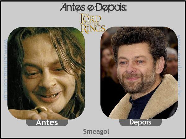 Antes e depois #22: O senhor dos anéis - Smeagol