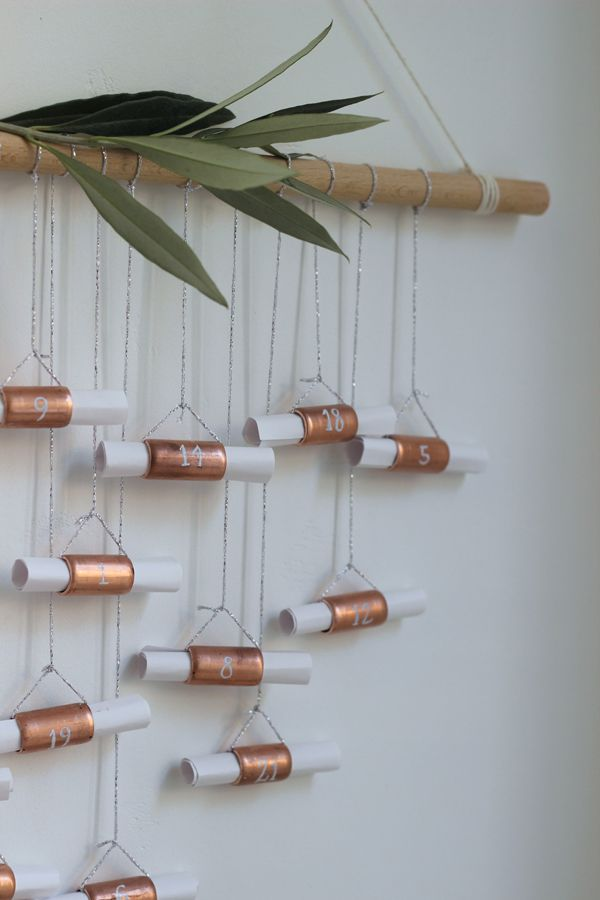 My best homemade advent calendar to date – DIY advent calendar with copper pipe   Growing Spacesa