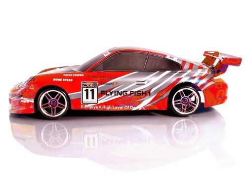 HSP Flying Fish Porsche Radiografische Drift Auto  Deze HSP Flying Fish Porsche 911 Radiografische Drift Auto is van een nieuwe generatie van 1/10 schaal on road drift auto's.  Deze RTR Drift rc auto van hsp is electrisch aangedreven door een Brushed motor en perfect voor indoor of outdoor drifting.