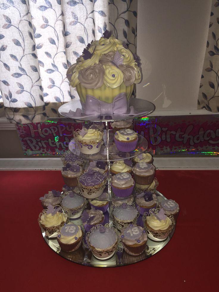 18th cupcake tower