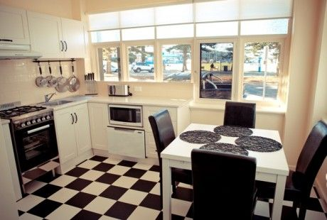 """The """"Elysian"""" luxury park view apartment kitchen. #artdeco #french provincial #kitchen #holiday #glenelg #view #vacation #travel"""
