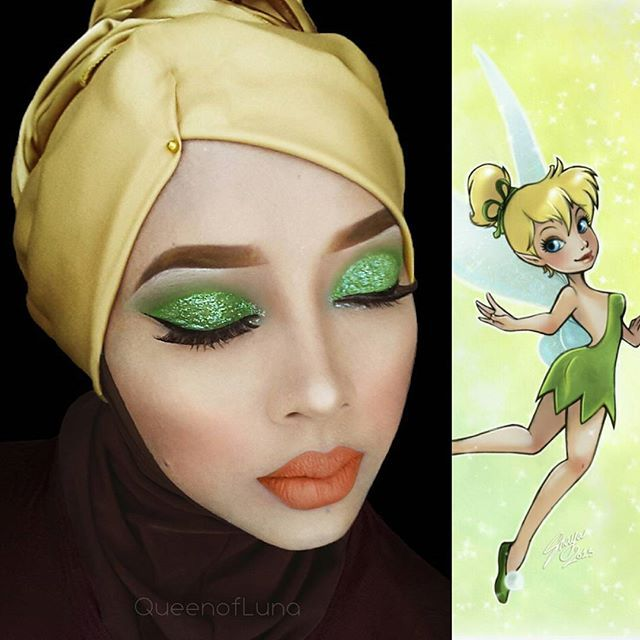 Best Queen Of Luna Images On Pinterest Disney Characters - Makeup artist uses hijab to transform herself into disney characters