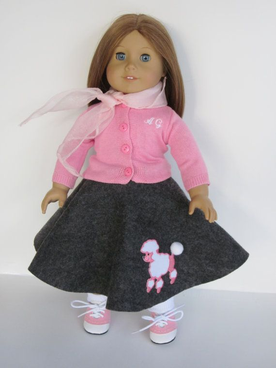 Retro Poodle skirt outfit fits American Girl Doll & by DreamyDoll, $28.99