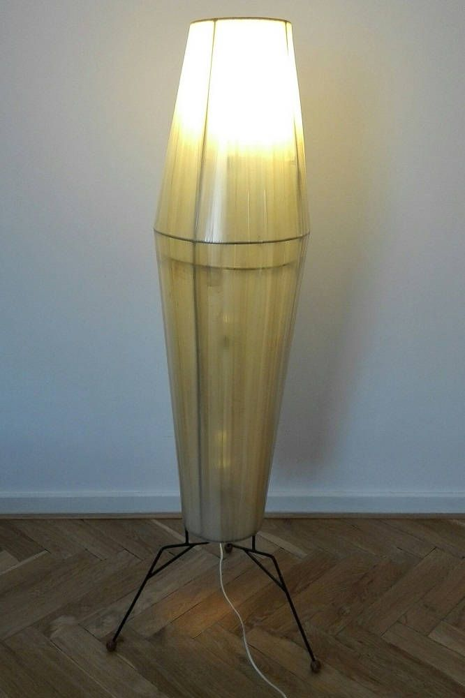 Rocket shape vintage floor lamp. by ClockedIt on Etsy