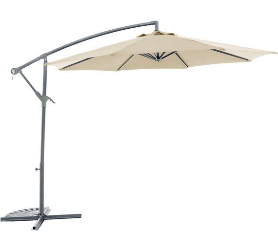 Buy Collection Cream 360 Degree Rotating Overhanging Parasol at Argos.co.uk, visit Argos.co.uk to shop online for Garden parasols and bases, Garden furniture, Home and garden