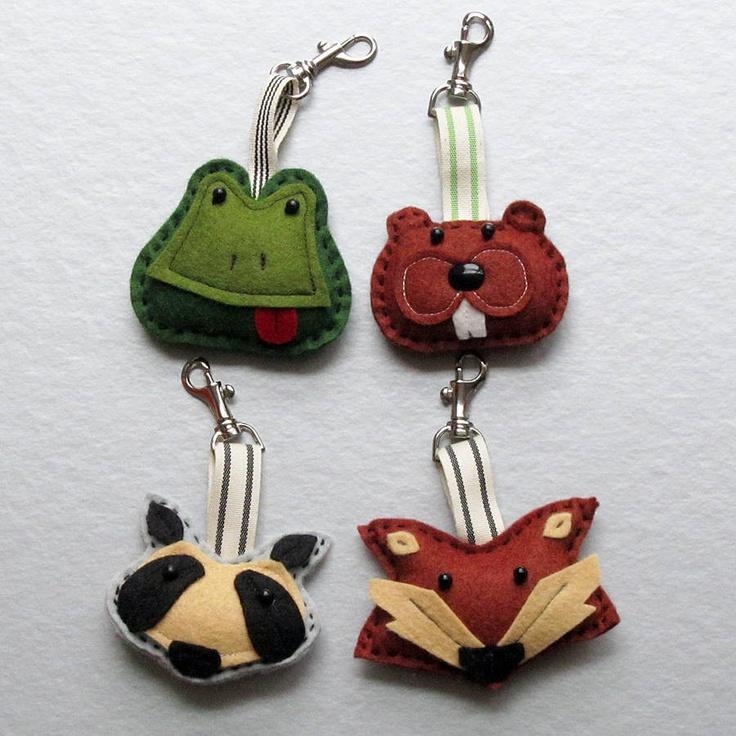 Handmade Animal Felt Key Ring