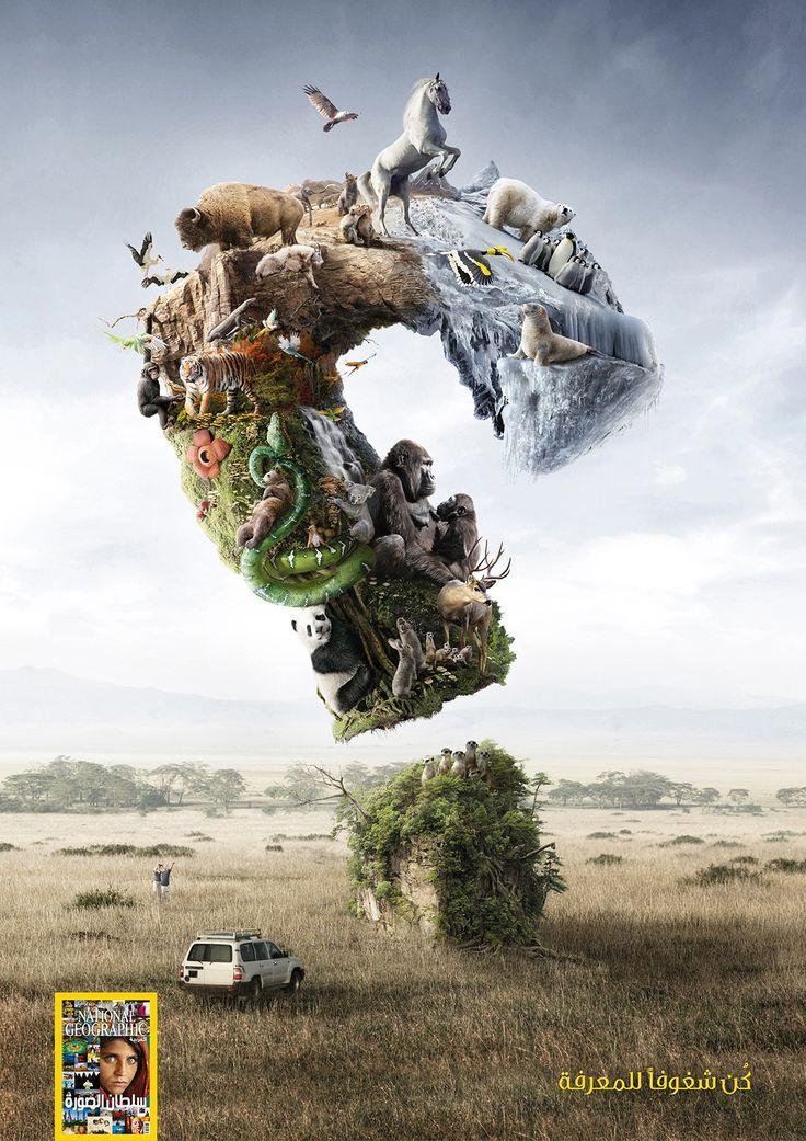 National Geographic: Wildlife | #ads #adv #marketing #creative #publicité #print #poster #advertising #campaign < repinned by www.BlickeDeeler.de | Visit our inspirational website www.Printwerbung-Hamburg.de