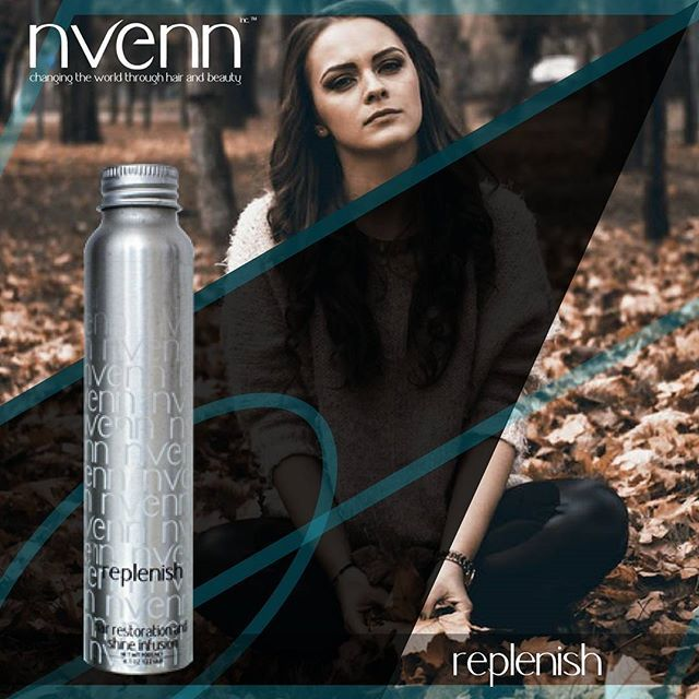 #nvenn replenish perfect to PREVENT AND REVERSE AGING in the hair. a must have in your hair repair regimen. use daily and watch your hair be reborn in front of your eyes. #salonpro #yeghair #yychair #replenish #bbloggers #hairbeauty #hairpro