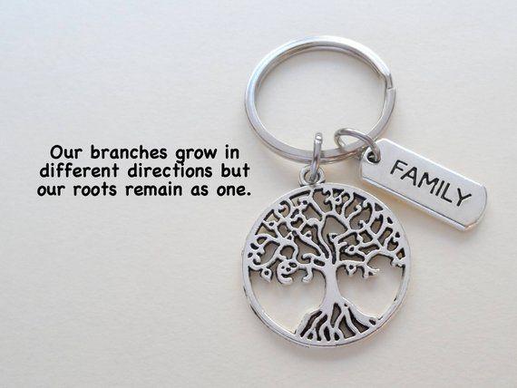 Family Tree Keychain Family Reunion Gift Keychain Family Etsy Tree Keychain Family Reunion Gifts Reunion Gift