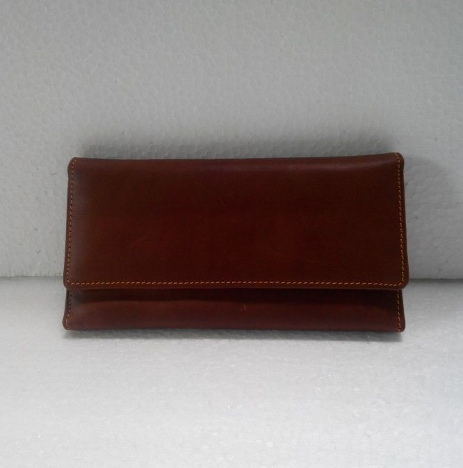Genuine Leather Wallet 3 folded #NoBrand #Trifold
