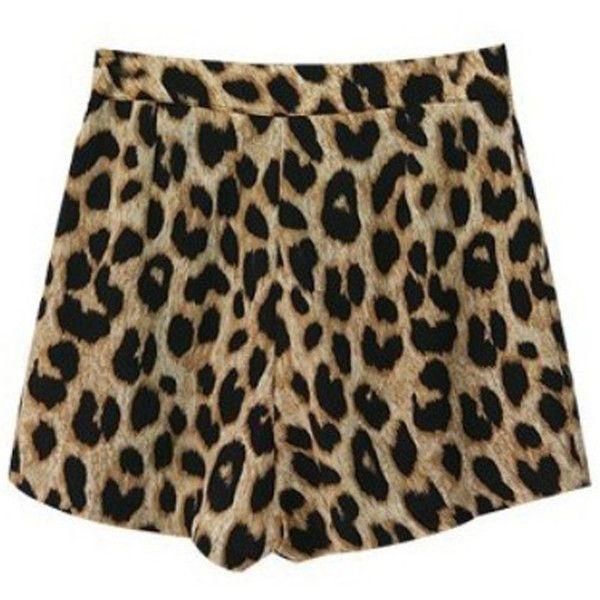 BG-impression Fashion Classic Leopard Leisure Hot Shorts Free... ($9.11) ❤ liked on Polyvore featuring shorts, bottoms, banggood, pants, leopard print shorts, micro shorts, hot shorts, leopard shorts and mini short shorts