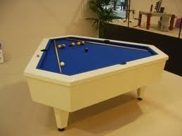 99 best billiards tables unique images on pinterest pool for Table triangulaire