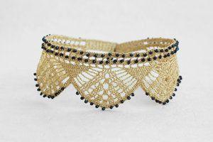 crochet-black-spinel-golden-ties-duo-choker