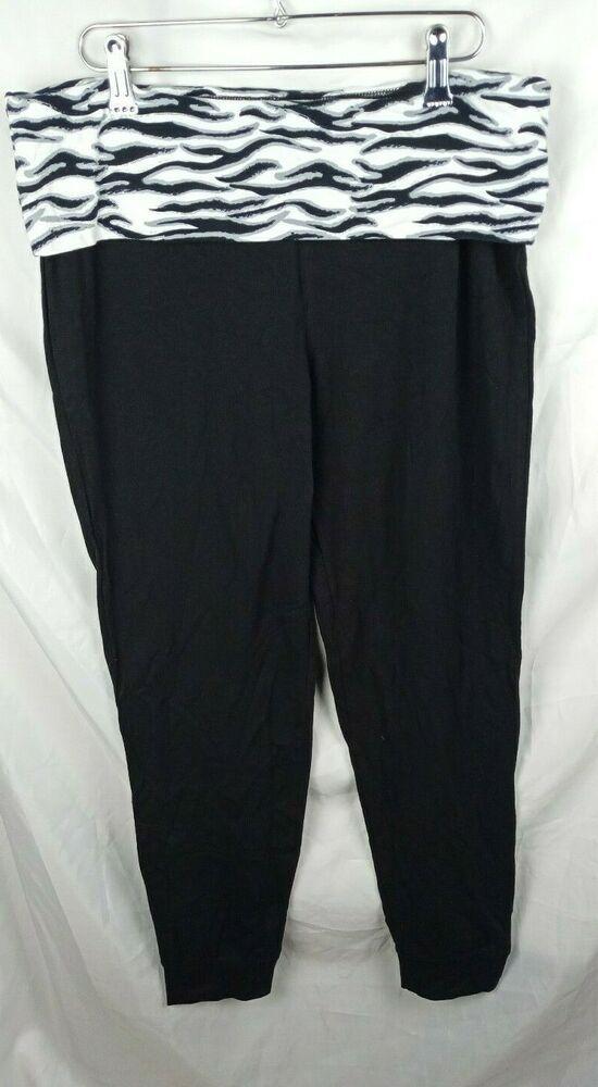 3a8acb4641d6e New Joe Boxer Womens Black Cotton Yoga Work out Pants Sport Active Wear  Size XL #JoeBoxer #Active