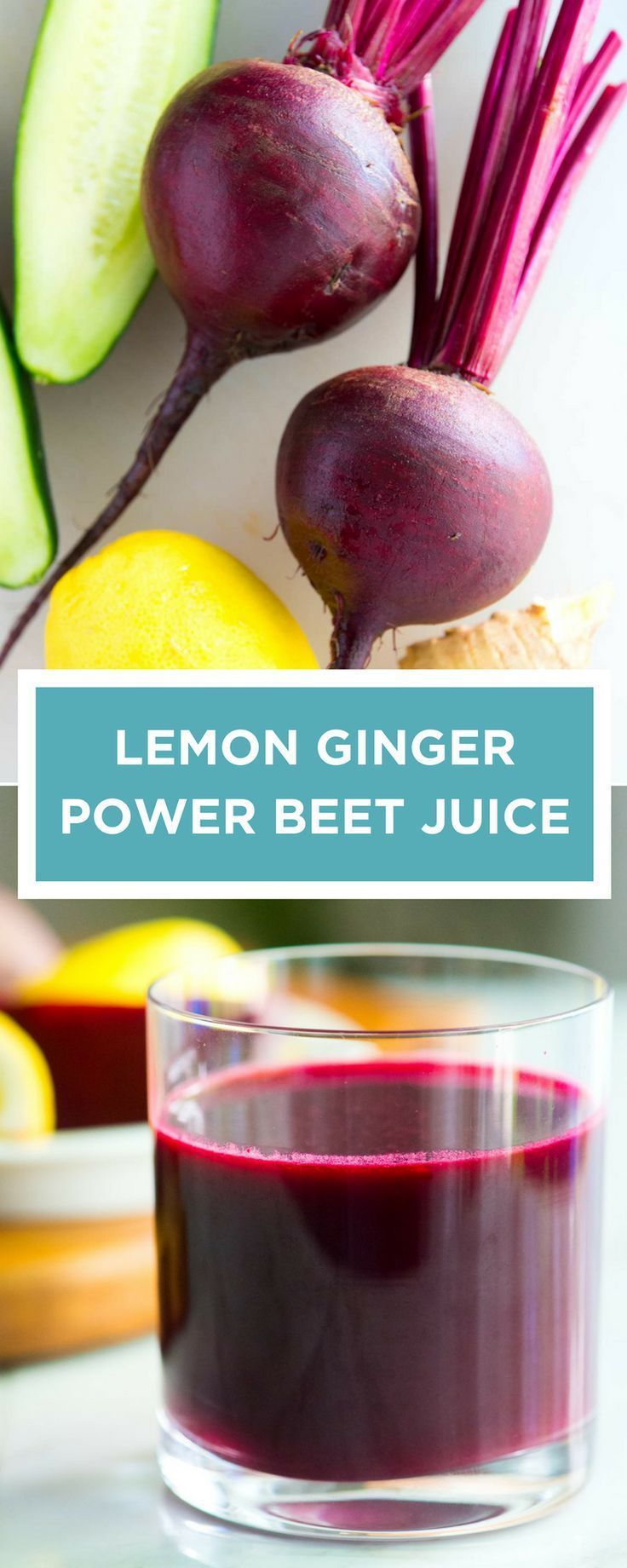 This is one of my favorite beet juice recipes! There are so many great benefits of drinking beet juice. To this recipe, we add beets, cucumber, lemon and ginger. It's naturally sweetened and so delicious!