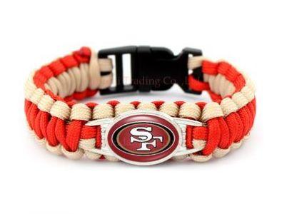 NFL San Francisco Forty-Niners Paracord Survival Bracelet