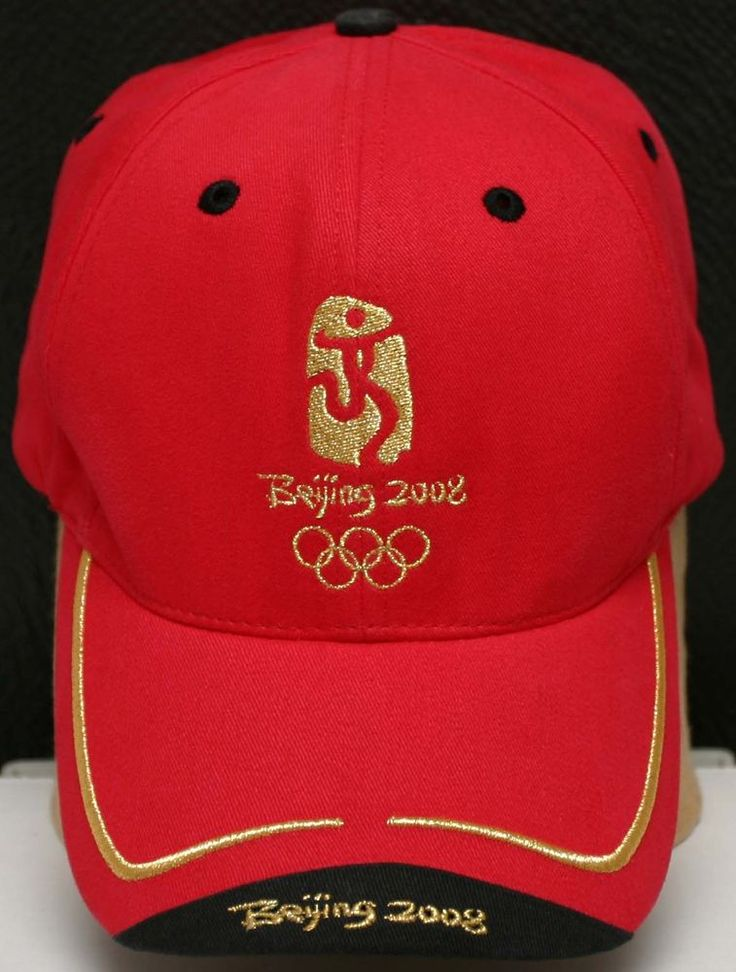 OLYMPICS 2008 BEIJING EMBROIDERED LOGO CAP/HAT  #Unbranded #Olympics