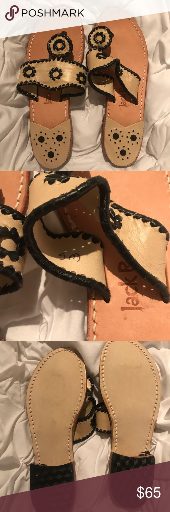 NEW‼️JACK Rogers 5M Condition: only flaw is in the 4th picture. (Wrinkly)  Color: Navajo Bone with Black Size: 5M •• Feel free to ask me any questions about this item. ✨ •• I'm willing to negotiate and I accept reasonable offers. 👍🏻 •• Remember that poshmark has a selling fee when making an offer‼️☺️ •• All my items are in perfect conditions unless stated otherwise. 💕 •• An extra part of the heel was added for more comfort and so the heel won't wear off. Jack Rogers Shoes Sandals