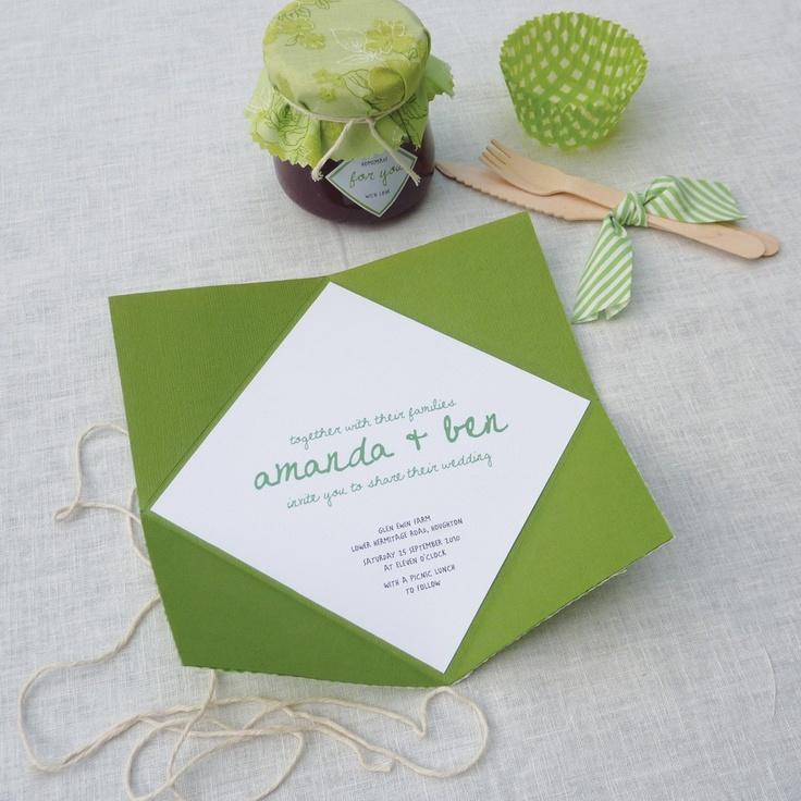 Wedding Invitation Idea Quot Picnic Theme Quot By Akimbo Design