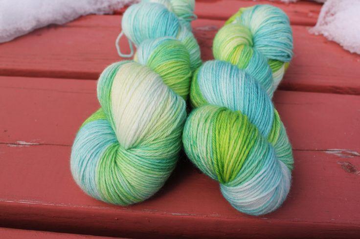 Caterpillar Hand Dyed Yarn Wool Sock Knitting Smooshy Yarn Speckled Yarn Fingering Weight Gift For Knitters Multi Colour Sock Yarn by FireFlyFibreArts on Etsy